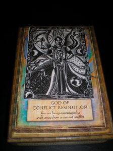 orcle cards, god of conflict resolution, walk away