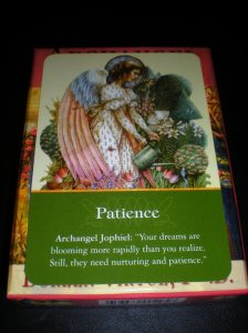 angel messages, patience, oracle cards