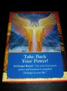 archangel raziel, angel messages, take back your power, oracle cards