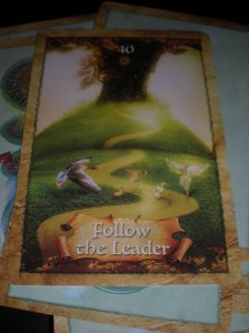 oracle cards, follow the leader, enchanted map