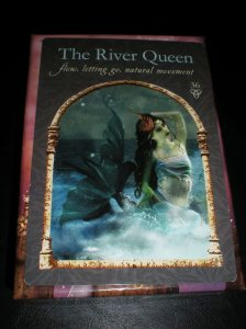 oracle cards, messages of going with the flow, river queen