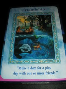 oracle cards, mermaid and dolphin messages, friendship