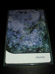 charoite, crystal healing, oracle cards