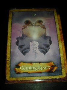 letting go messages, coming apart, oracle cards