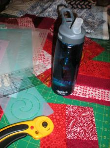 lost water bottles, sewing room finds