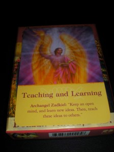 angel messages, learning and teaching
