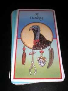 turkey message, animal oracle cards, giveaway bird