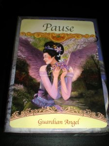 oracle cards, pause, angel messages, looking with honest eyes