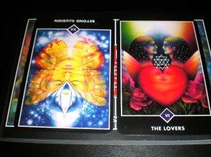 osho zen tarot, alternative tarot, beyond illusion, the lovers