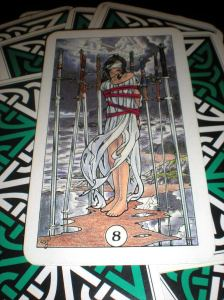 robin wood tarot, 8 of swords
