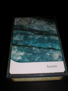 oracle cards, crystal messages, toni carmine salerno, kyanite