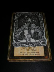 goddess messages, oracle cards, goddess of the shadows