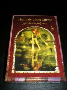oracle cards, colette baron reid, the lady of the mirror, hidden realms
