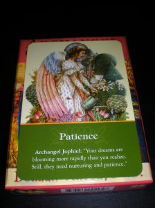 angel messages, oracle cards, patience,