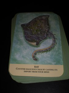 animal messages, oracle cards, cast away