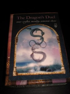 wisdom of the hidden realm, the dragon's dual, inner conflict, morality, conscious choice, animal messages, oracle cards