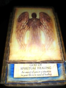 angel messages, the god of spiritual healing, oracle cards