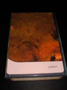 amber, oracle cards, crystal messages