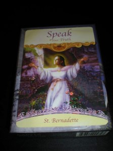 angel messages, speak the truth, st bernadette