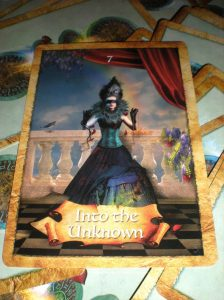 oracle cards, the map, hidden treasures, into the unknown
