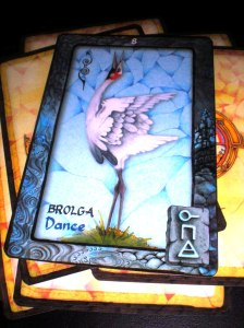 oracle cards, animal messages, brolga, dance, australian mysticism