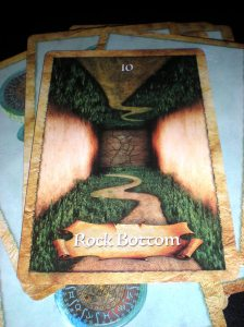 oracle cards, rock bottom
