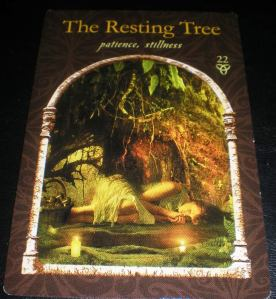 oracle cards, wisdom of the hidden realm, the resting tree, colette baron-reid