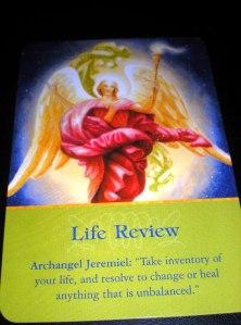 oracle cards, angel messages, life review, archangel jeremiel