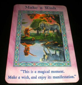 make a wish, mermaids and dolphins message, oracle cards, unicorns