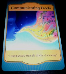 oracle cards, communicating freely, denise linn