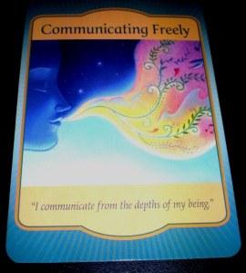 oracle cards, communicating freely, denise linn