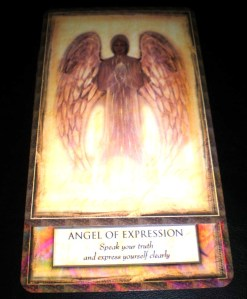 oracle cards, angel messages, angel of expression