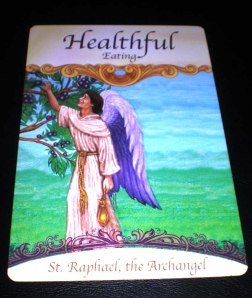 angel messages, eating healthfully, st raphael the archangel