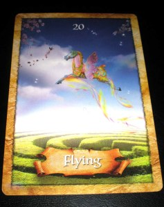 oracle cards, flying messages
