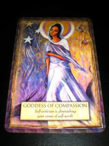 oracle cards, goddess of compassion, quan yin