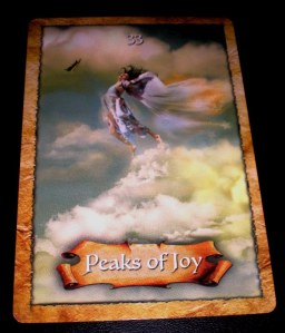 oracle cards, peaks of joy, enchanted map messages