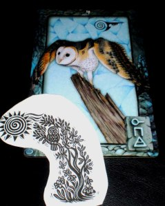 owl messages, nocturnal, animal oracle cards