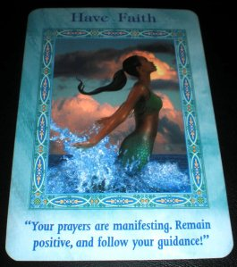 mermaid oracle cards, dolphin messages, have faith