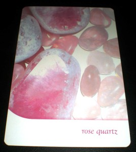 rose quartz, crystal messages, oracle cards