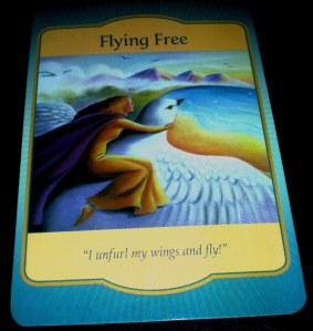 oracle cards, gateway messages, flying free, denise linn