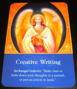 oracle cards, angel messages, creative writing