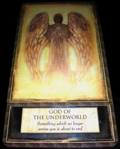 angels and gods and goddesses, oracle cards, hades, god of the underworld, letting go