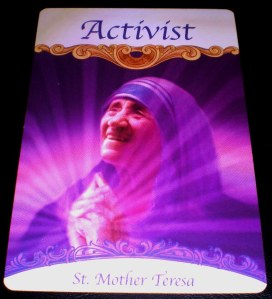 oracle cards, saints and angels, activism
