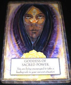 oracle cards, gods and goddess, messages of sacred power