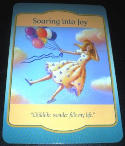 oracle cards, soaring into joy, laughing, messages,