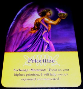 angel messages, oracle cards, prioritize, decisiveness,