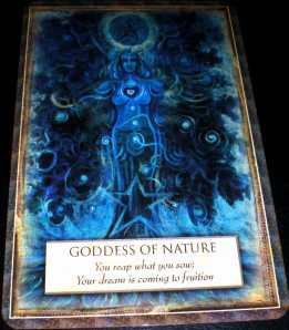 goddess messages, oracle cards