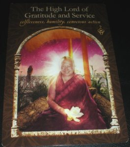 the high god of gratitude and service, oracle cards, messages of helping
