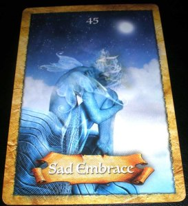 oracle cards, sad embrace