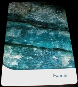 crystal messages, oracle cards, kyanite